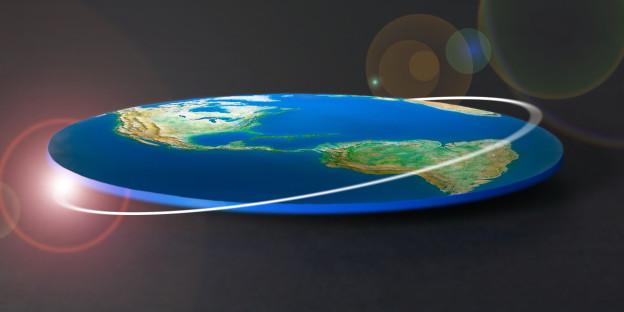 One dimensional globe, against black background, (digitally generated)
