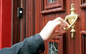 knock on door